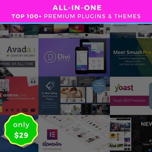 TOP 200+ the best selling WP Premium Themes & Plugins